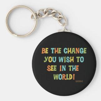 Sea el cambio que usted desea ver llaveros personalizados