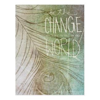 Sea el cambio que usted desea ver postales