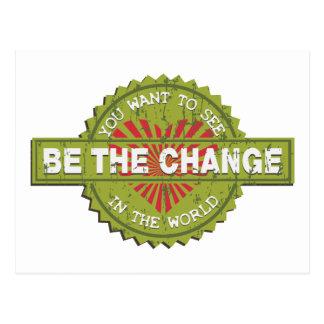 Sea el cambio tarjetas postales