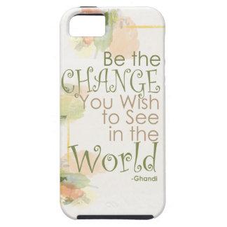 Sea el caso de la cita de Gandhi del cambio iPhone 5 Fundas