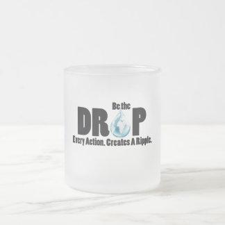 Sea el descenso taza cristal mate