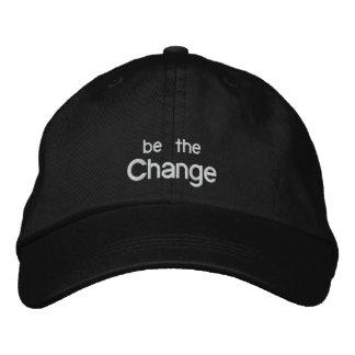 Sea el gorra /Black del bordado del cambio Gorra De Béisbol Bordada