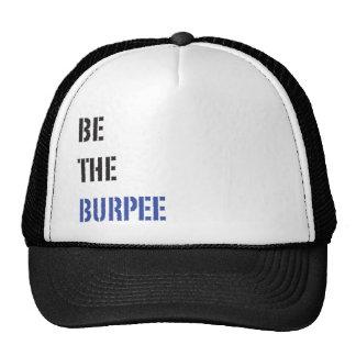 Sea el gorra negro y azul de Burpee del camionero