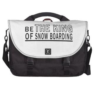 Sea el rey Of Snow Boarding Bolsas Para Portatil