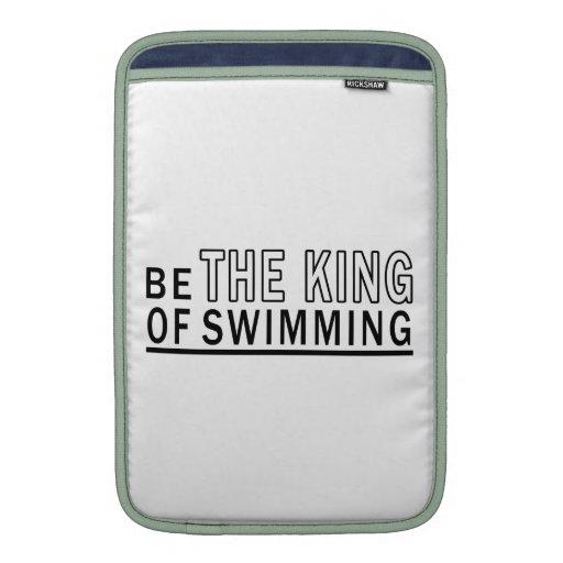 Sea el rey Of Swimming Funda Macbook Air