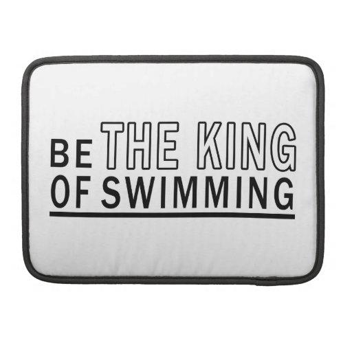 Sea el rey Of Swimming Fundas Macbook Pro