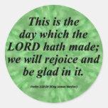 Sea el salmo alegre 118-24 condensado pegatina redonda