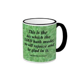 Sea el salmo alegre 118-24 condensado tazas de café