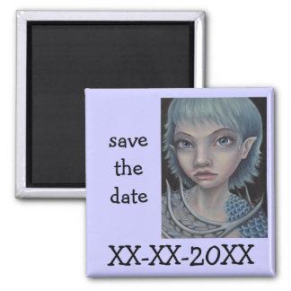 Sea Elf 2 Inch Square Magnet