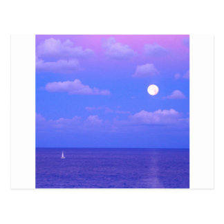 Sea Enchanted Moonrise Cancun Postcard