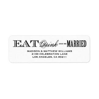 Sea etiqueta casada del remite del | etiqueta de remitente