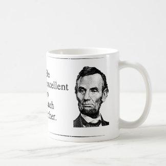 Sea excelente el uno al otro tazas de café