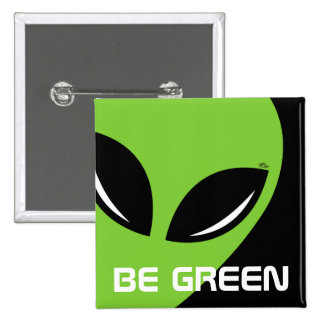Sea extranjero verde pin cuadrada 5 cm