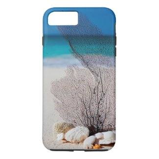 Sea Fan on the Beach iPhone 7 Tough Phone Case