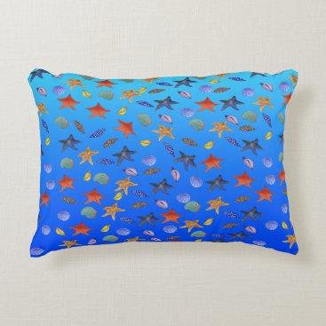 Beach Themed Sea Fantasy by The Happy Juul Company Decorative Pillow
