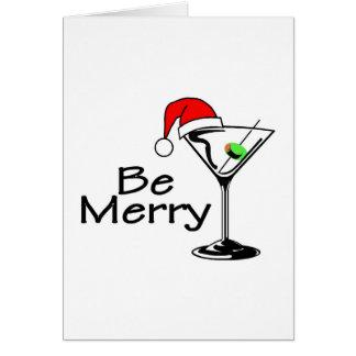 Sea Felices Navidad Martini Tarjeta De Felicitación