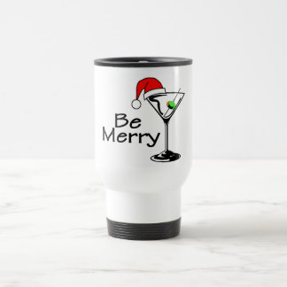 Sea Felices Navidad Martini Taza