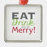 ¡Sea feliz! Adorno De Navidad