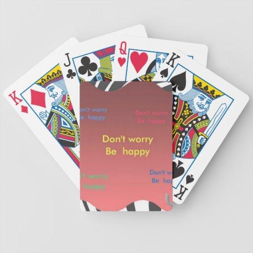 Sea feliz baraja de cartas