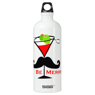Sea feliz bigote botella de agua