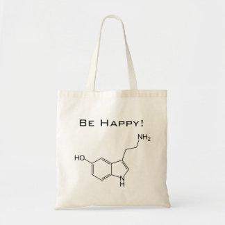 ¡Sea feliz! Bolso de la serotonina Bolsa Tela Barata