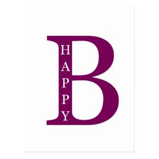 Sea feliz (de color morado oscuro) postales
