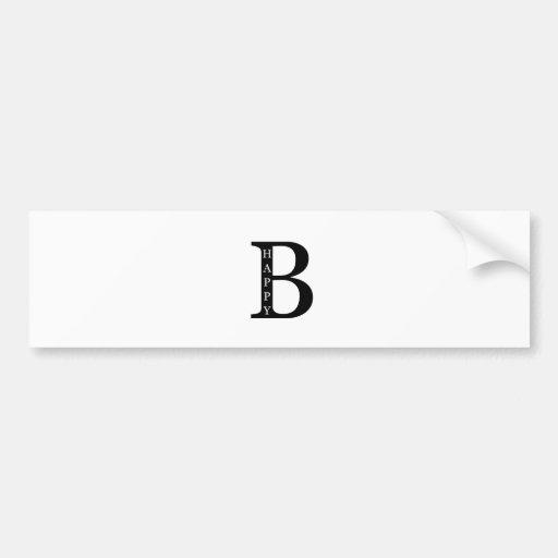 Sea feliz (en el negro del interior…) etiqueta de parachoque