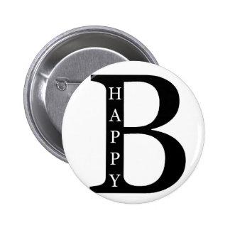 Sea feliz (en el negro del interior…) pins