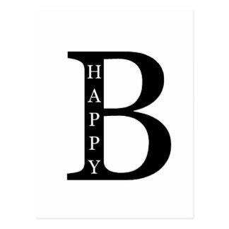 Sea feliz (en el negro del interior…) postal