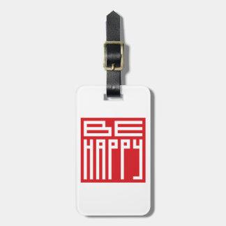 sea feliz etiquetas bolsa