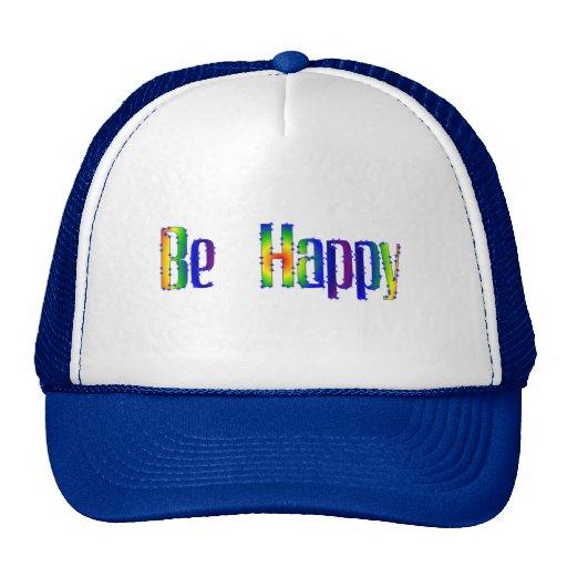 Sea feliz gorras de camionero