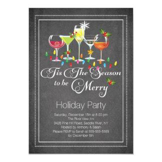 Sea feliz invitación del cóctel del día de fiesta invitación 12,7 x 17,8 cm
