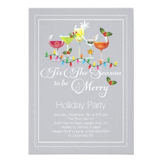 Sea feliz invitación del cóctel del día de fiesta