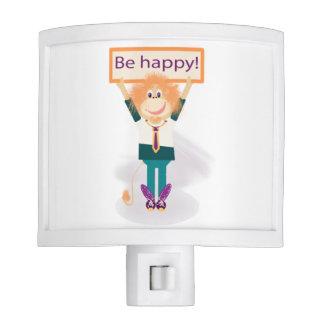 ¡Sea feliz! Lámpara De Noche