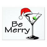 Sea feliz Martini Invitación 10,8 X 13,9 Cm