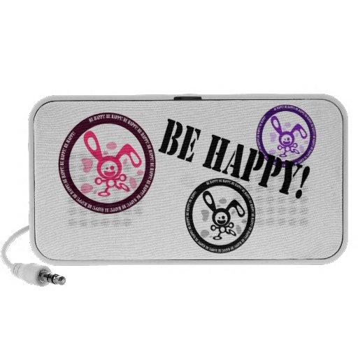 ¡Sea feliz!! Portátil Altavoces
