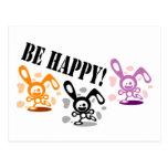 ¡Sea feliz! Postal