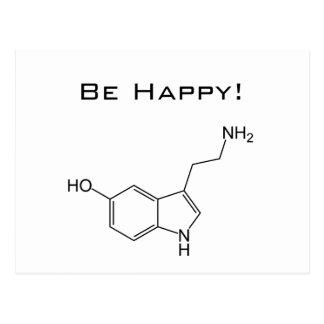 ¡Sea feliz Postal de la serotonina