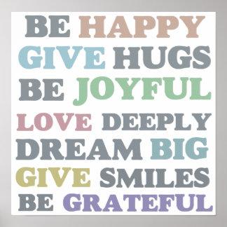 Sea feliz póster