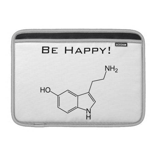 ¡Sea feliz! Serotonina Funda Macbook Air