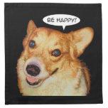 Sea feliz servilletas imprimidas