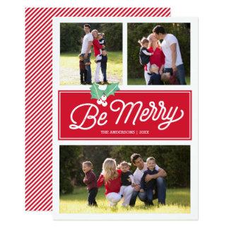 """Sea feliz tarjeta clásica de la foto del día de invitación 5"""" x 7"""""""