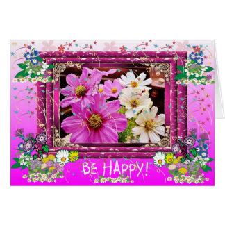 ¡Sea feliz! Tarjeta De Felicitación