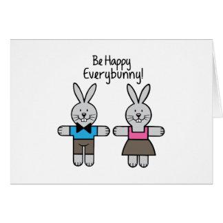 Sea feliz tarjeta de felicitación
