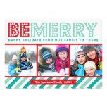 Sea feliz tarjeta del día de fiesta del collage de anuncios personalizados