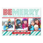Sea feliz tarjeta del día de fiesta del collage de invitación 12,7 x 17,8 cm