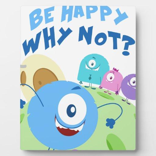 Sea feliz Yum Yum Placa De Plastico
