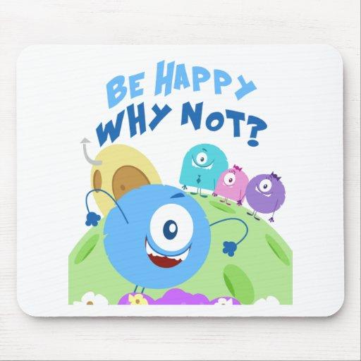 Sea feliz Yum Yum Tapete De Ratones