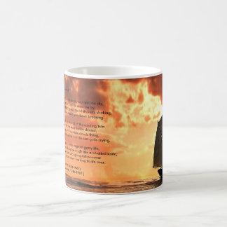 """""""Sea-Fever"""" sunset Classic White Coffee Mug"""