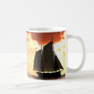 """Sea-Fever"" sunset Coffee Mugs"